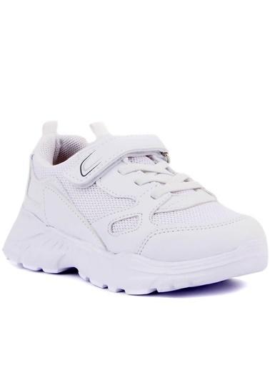 Cool 20-S06 Beyaz Erkek Çocuk Fileli Günlük Spor Ayakkabı Beyaz